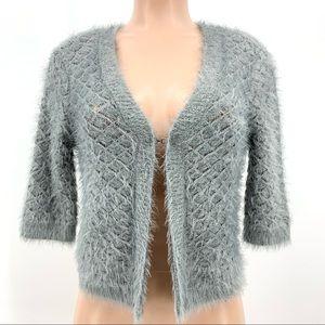 BB Dakota Soft Eyelash Open Knit Cardigan Sweater